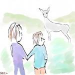 Deer and me and Mom