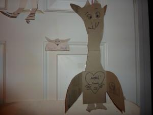 Ruth's giraffe with wings card