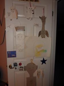 My door full of Ruth's cards!